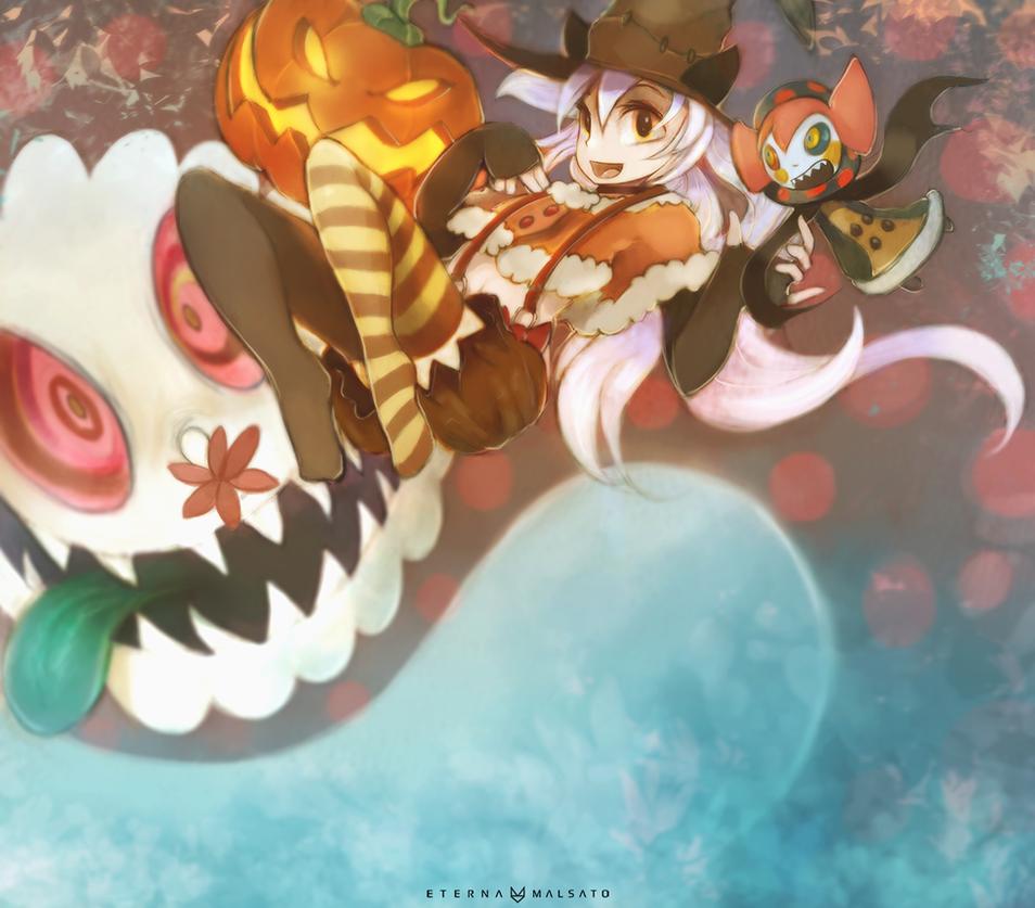 Nagisa Momoe Halloween Banner by FoxInShadow