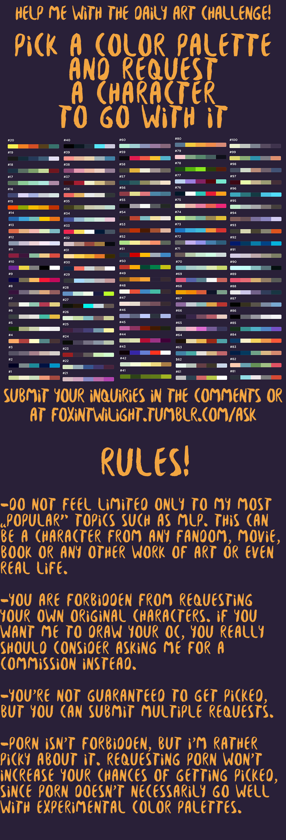 color palette challenge by foxinshadow on deviantart