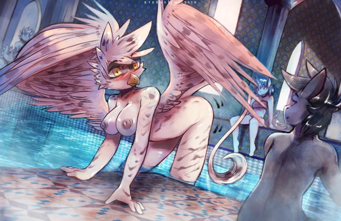 Bird Bath by FoxInShadow