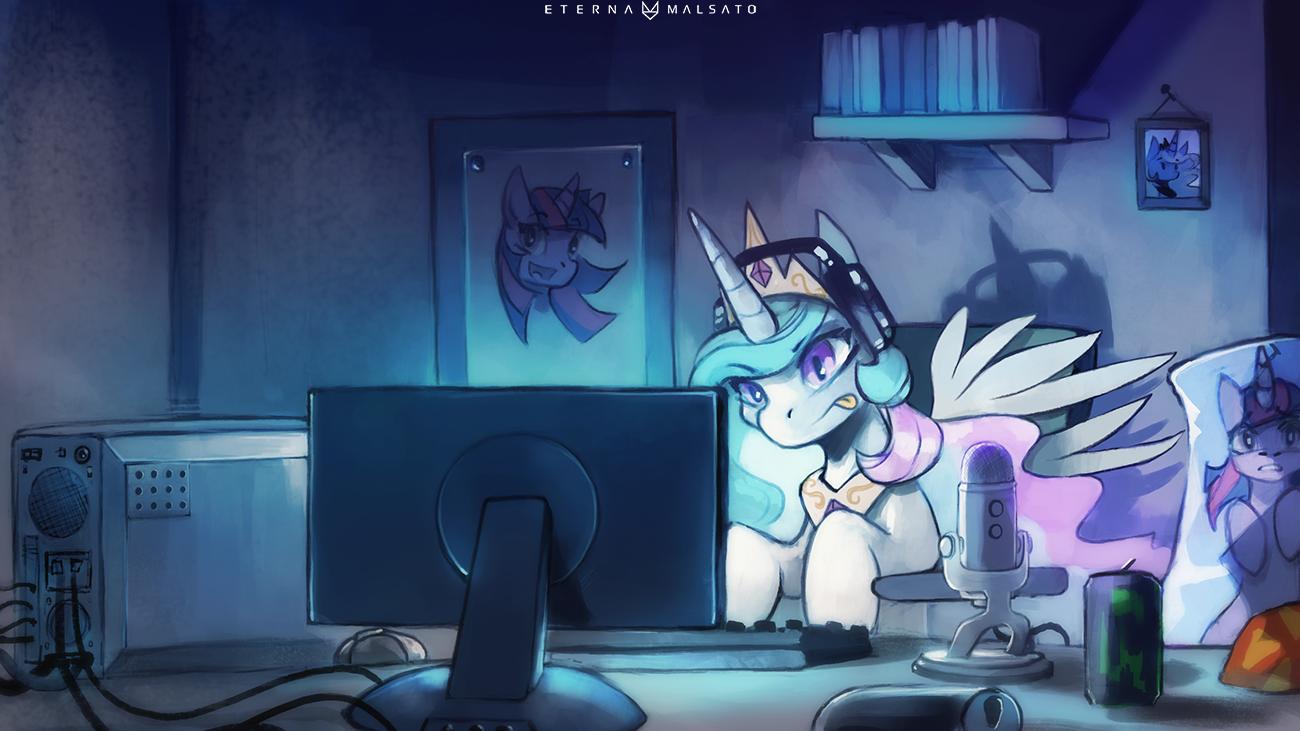 Gamer Celestia by FoxInShadow