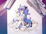 Unicorn (Inktober2018 1/31) by FoxInShadow