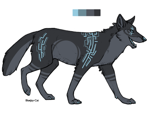 wolf adopt (closed) by fursonaloverXD