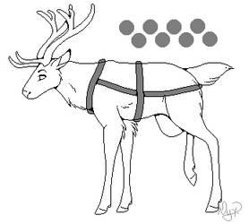 Reindeer Lineart F2U