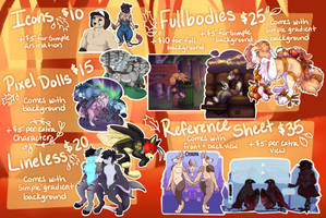 New! Commission sheet -OPEN-