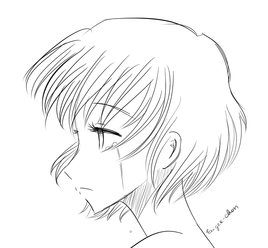 Line Drawing Sad Face : Sad face again by eushi on deviantart