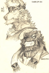 Sketch: Shennong and Tezcatlipoca