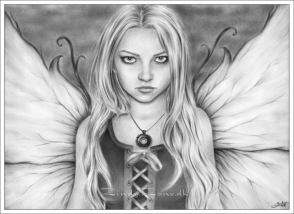 Beautiful Fairy Drawing Dark fairy by zindy