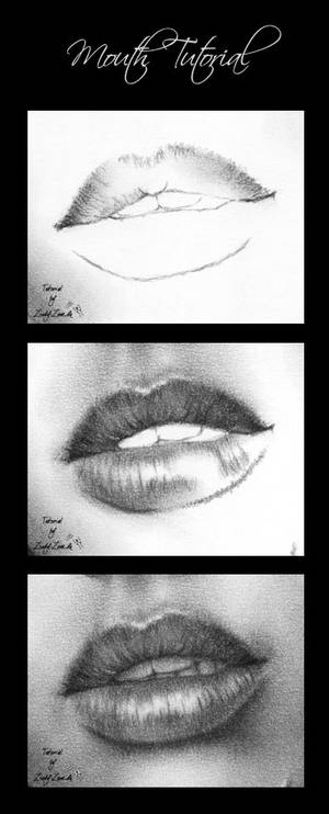 Mouth tutorial - charcoal