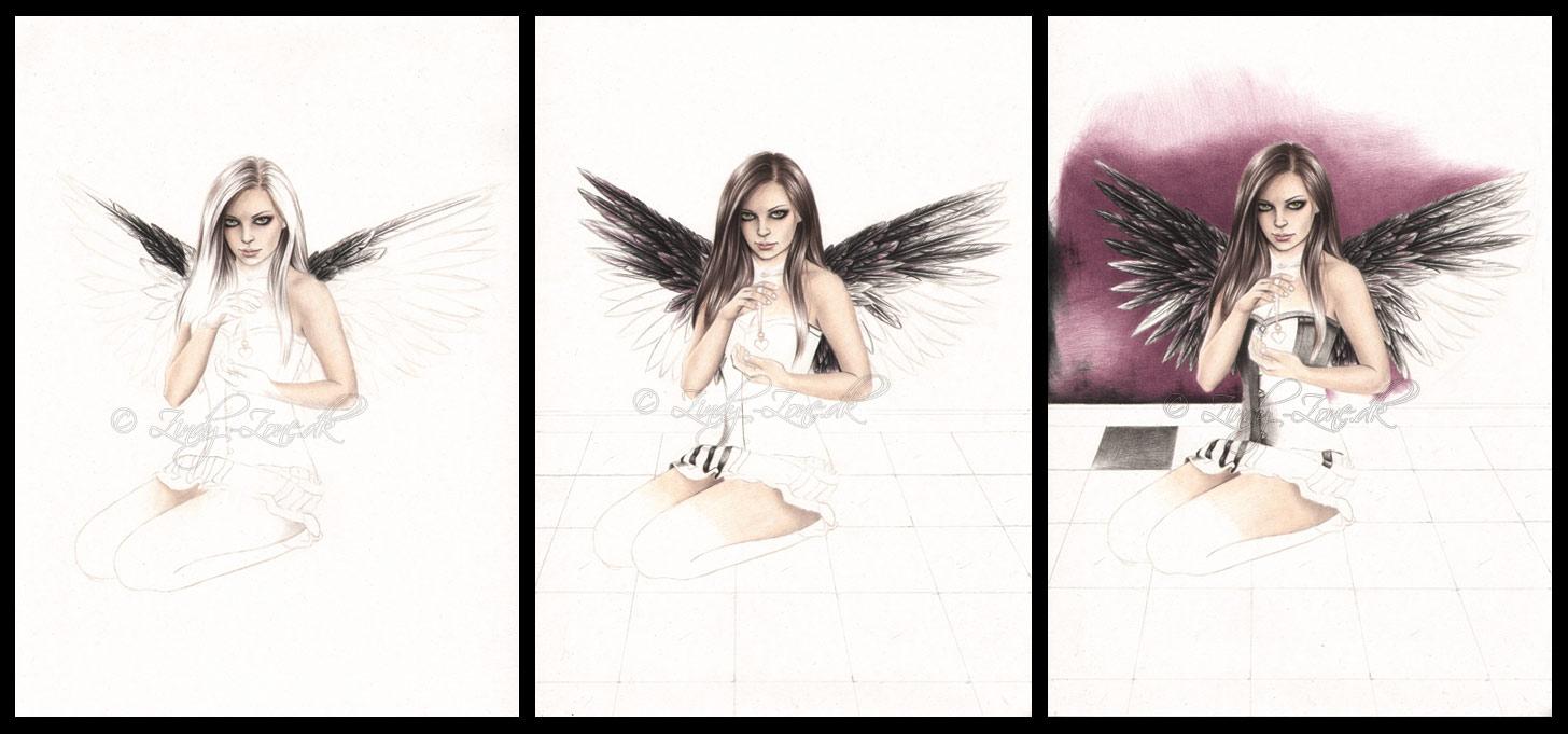 Dark Love Drawings Dark Love in progress by