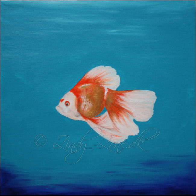 Gold Fish Painting By Zindy