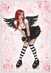 Angel in black