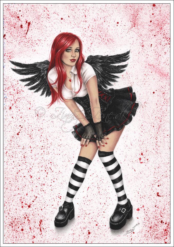 Angel in black by Zindy