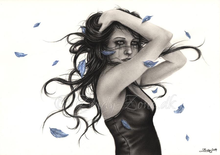 Autumn Blues Print by Zindy