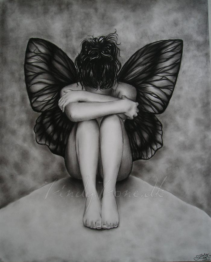 Sad Butterfly Girl