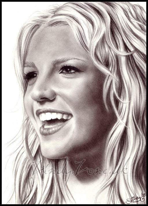 Britney Spears Laughing by Zindy