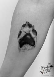 Dog Paw Tattoo by Zindy