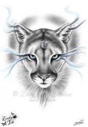 Moon Spirit Mountain Lion by Zindy