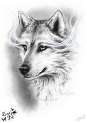 Moon Spirit Wolf by Zindy