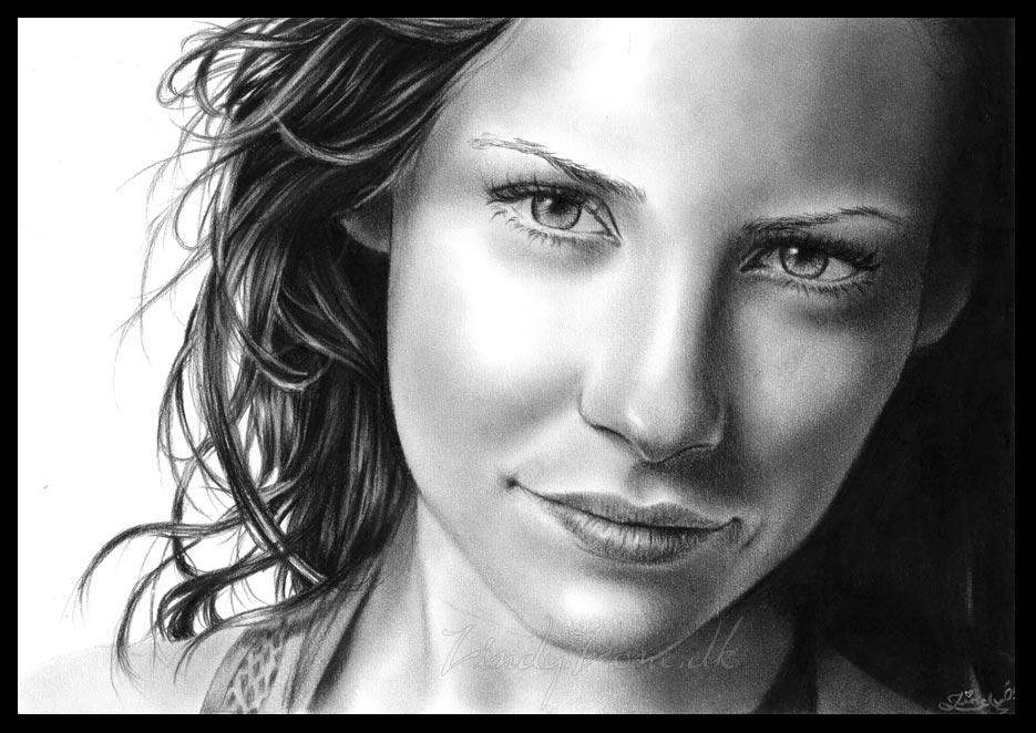 dibujos - dibujos hiper realistas Evangeline_Lilly_3_by_Zindy