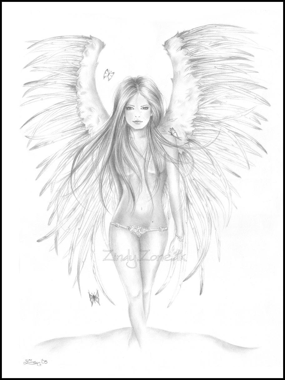 Angel of beauty by Zindy on DeviantArt Angel Drawings In Pencil