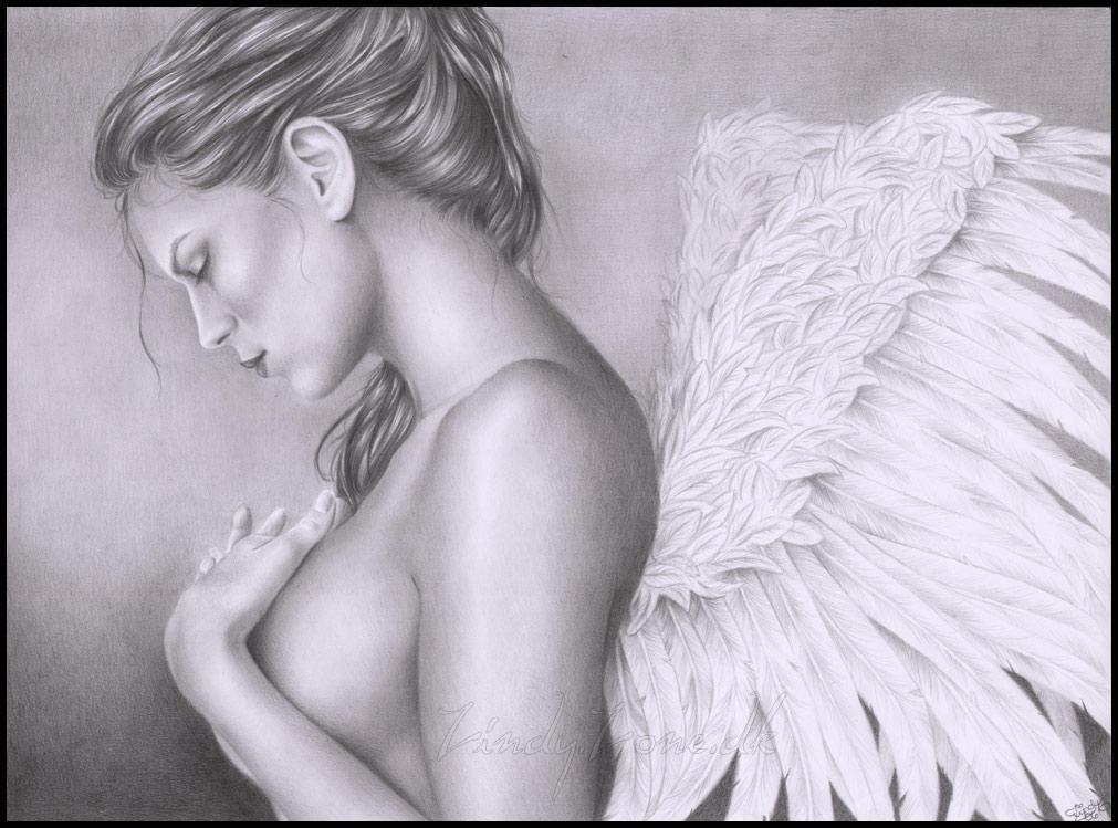 Sadness of an angel by Zindy