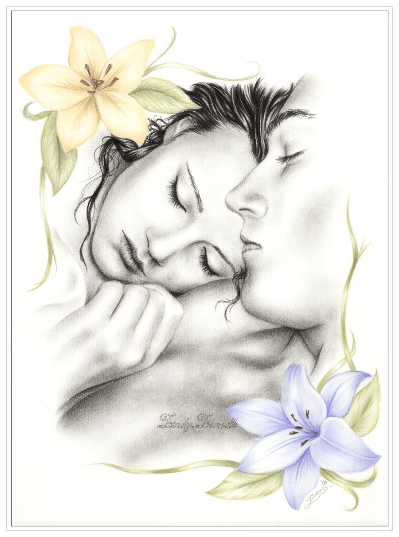 рисунок карандашом тема любви