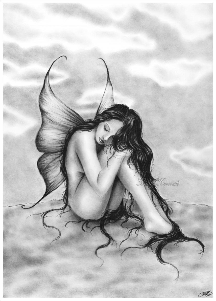 Рисунок одинокой девушки 26 фотография