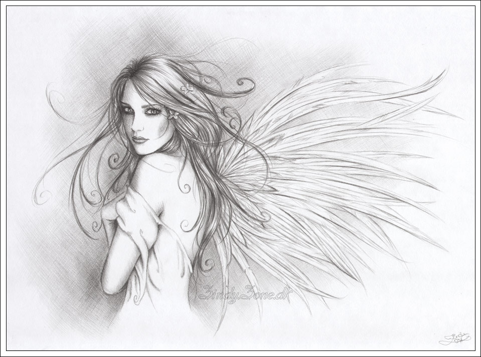 Your Angel by Zindy on DeviantArt Angel Drawings In Pencil