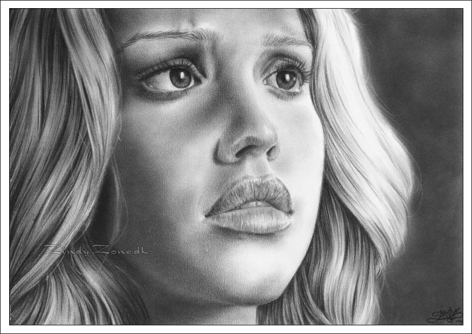 Jessica Alba: In her eyes by Zindy