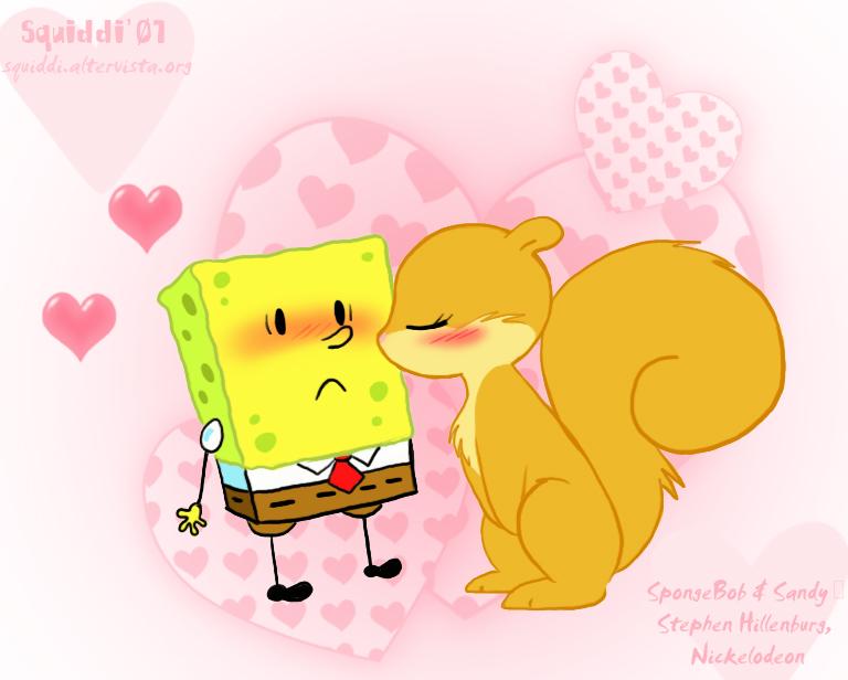 Chibi SpongeBob and Sandy
