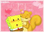 Chibi SpongeBob and Sandy 2