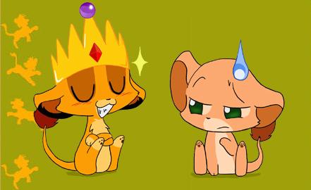 Chibi Simba and Nala by StePandy