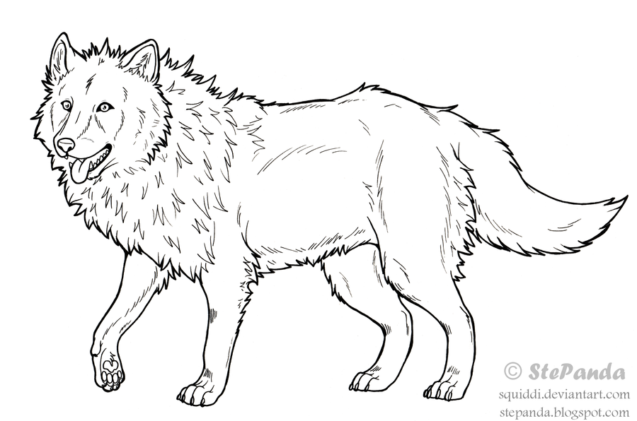 Realistic Werewolf Coloring Pages