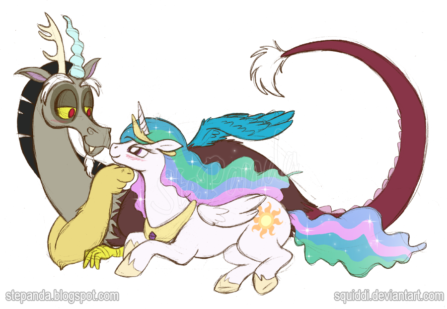 celestia_and_discord_by_squiddi-d4riqdd.