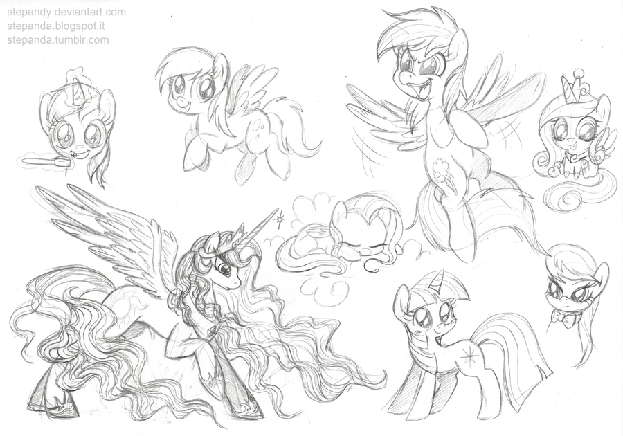 My little pony free sketches by stepandy on deviantart for Sketch online free