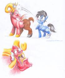 Leo and Satan Pony Version by StePandy