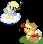 Derpy and Applejack