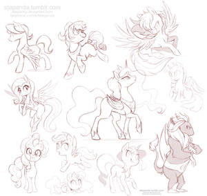 My Little Pony Free Sketches 4