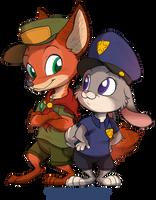 Nick Wilde and Judy Hopps by StePandy
