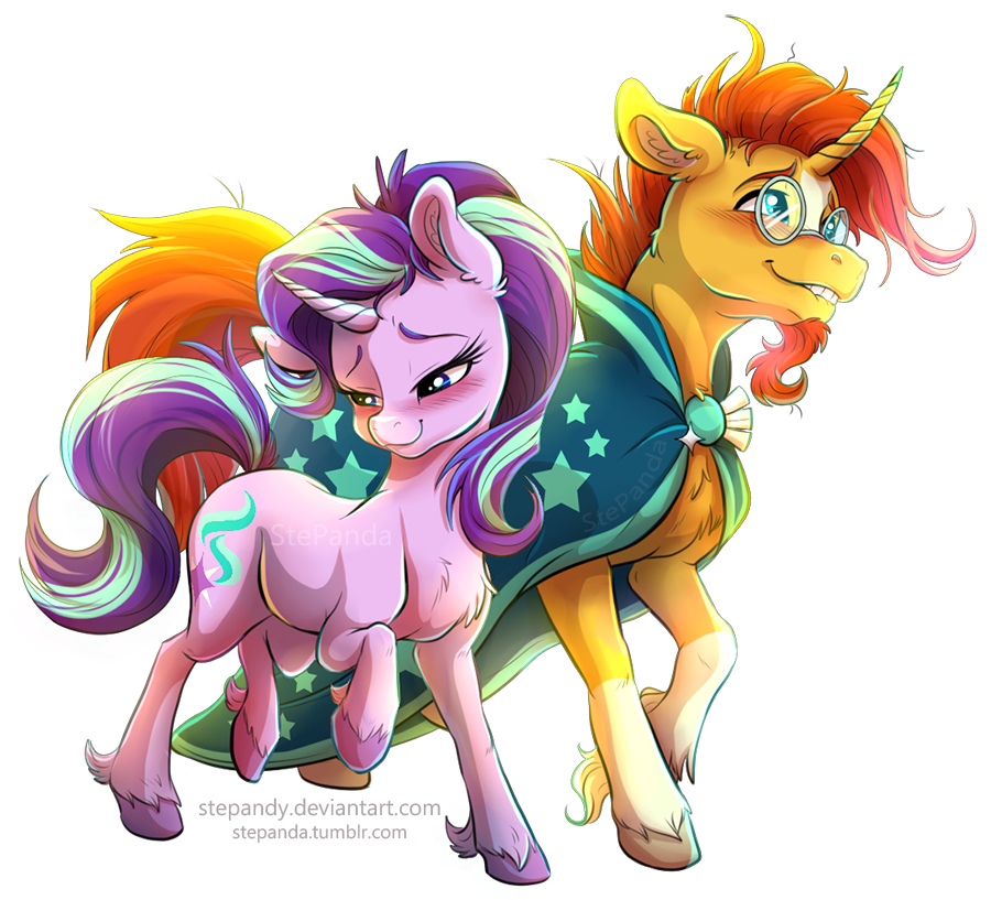 sunburst_and_starlight_glimmer_by_stepan