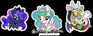 Luna Celestia and Discord