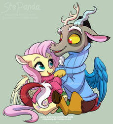 Fluttershy and Discord by StePandy