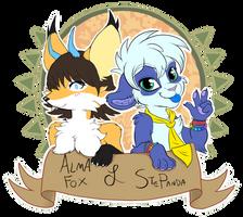 AlmaFox and StePanda by StePandy