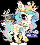 Princess Celestia and Discord chibi