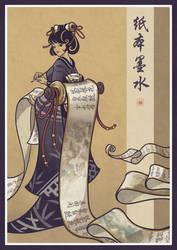 Inque on Paper - Geisha inspiration