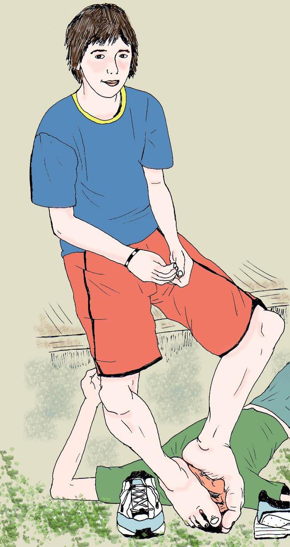 Smelling a boy feet by ddosso