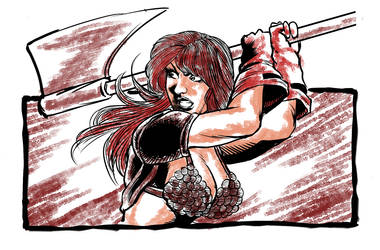 Red Sonja sketch by MarcelTheSouza