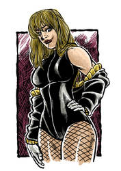 Black Canary sketch colors by MarcelTheSouza