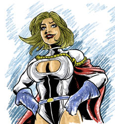 Power Girl Sketch by MarcelTheSouza
