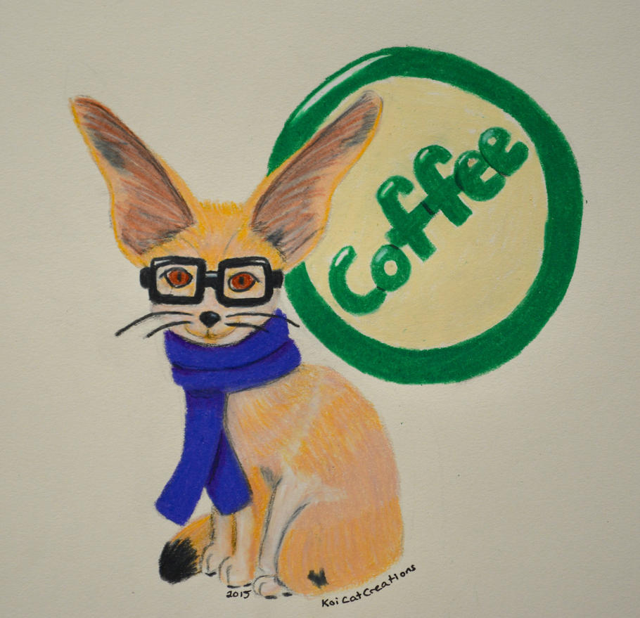 Hipster Fennec Fox by KoiCatCreations - 128.9KB